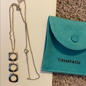 Silver Tiffany and co necklace squares